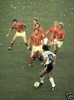 Maradona Argentina takes on whole Belgium 10x8 Photo