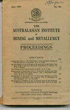 Australasian Institute on Mining & Metallurgy  1960