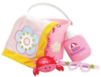 Baby Stella Doll Beach Set Pink Bucket Towel Sunglasses Manhattan Toy 12m+ NEW