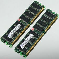 Samsung Low Density 2GB 2x 1GB DDR400 PC3200 400MHZ NON-ECC 184PIN DIMM memory
