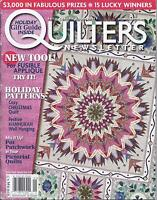 Quilters Newsletter Magazine Holiday Patterns Pictorial Quilts Thread Embellish