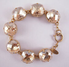 CCatherine Popesco 14k Gold Plated X-large Champagne Swarovski Crystals Bracelet