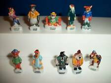 TAILSPIN Set 10 Mini Figurines French Porcelain FEVES Figures DISNEY Tail Spin