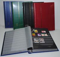 PROMO- Album timbres Classeur LEUCHTTURM 64 Pages noires 5000 Timbres(réf:BASIC)