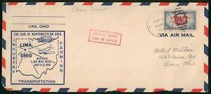 Mayfairstamps US 1936 Lima to Dayton Air Mail Week Cover wwo_75511