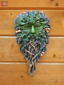 ALL SEEING OAK, GREEN MAN WALL PLAQUE. Beautiful. Tree Spirits, Wiccan, Pagan.