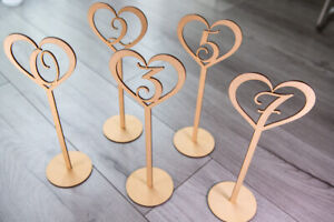 Freestanding Wooden Table Numbers - Balloon Weights - Wedding - Craft MDF Party