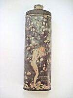 """1920's Talcum Powder Tin """"Showers of Flowers"""" w/ Pretty Woman  *"""