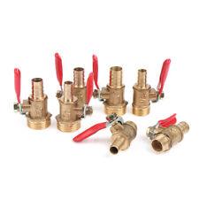"Brass Ball Valve Hose Barb 1/4"" 3/8"" 1/2"" BSP Male Thread Connector Pipe Adap_HF"