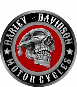 Harley Davidson Red skull  sticker decal 105 millimeters wide