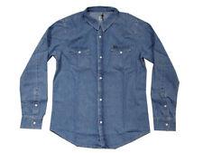 Camicie casual e maglie da uomo a manica lunga in denim taglia XXL