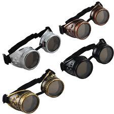 Vintage Victorian Steampunk Goggles Glasses Eyeglass Welding Cyber Punk Gothic