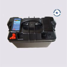 Marine 12V Leisure Battery Carrier Box - 2 USB & 1 12V Outlets 350 x 200 x 230mm