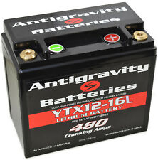 "Antigravity AGYTX12-16 ""L"" 480CCA 16Cell Lightweight Lithium Motorcycle Battery"
