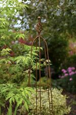 Tom Chambers Priory Natural Rust Garden Obelisks - Climbing Plant Support Frame