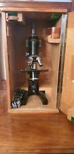 Mikroskop Kosmos Humboldt - Schulmikrokop - Lehrmikroskop - im Holzkasten.