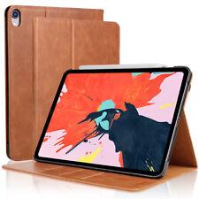 "For iPad Pro 11"" 2018 Genuine Leather Folio Wallet Cover Auto Wake/Sleep Case"