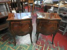Pair of Antique Nightstands French Louis XV Rosewood Wood of Rose