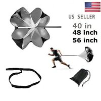 "40""/48""/56"" Speed Training Resistance Parachute Chute Power Track Running Sports"