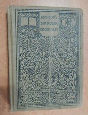 1910 Addison's Sir Roger Decoverley De Coverley Macmillian's Pocket Classics