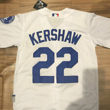 ADULT MAJESTIC LOS ANGELES DODGERS  BASEBALL JERSEY #22 KERSHAW - WHITE COLOR