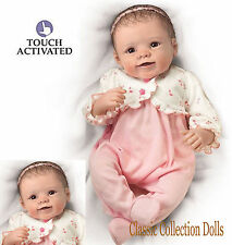 Ashton Drake 'BABY SADIE' -LIFELIKE TOUCH ACTIVATED BABY GIRL DOLL-NEW- IN STOCK