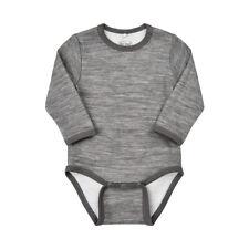Merino Wool Bamboo One Piece Bodysuit Size 24 Months Grey Melange
