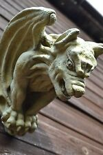 """Gargoyle Gothic wall plaque """"ghost buster"""" frost proof stone garden ornament"""