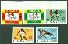 GHANA : 1972. Olympic set Imperforated. Very Fine, Mint Never Hinged.