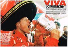 Coupure de presse Clipping 2004 (4 pages) Michael Schumacher Spa Francorchamps
