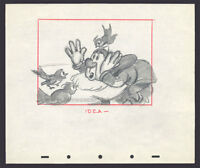 WALT DISNEY STUDIOS SNOW WHITE STORYBOARD/CONCEPT DRAWING OF SNEEZY (1937) (B)