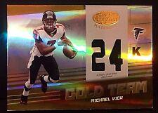 MICHAEL VICK 2004 Leaf Certified Materials Gold Team PATCH Jersey 24K Ser #d /25