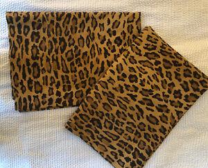 Set Of 2 Ralph Lauren Aragon Leopard Cheetah Standard pillowcases Animal Print