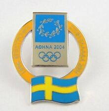 Athens Olympic Games 2004 Pin Badge - Official Country Flag By Trofe - Sweden