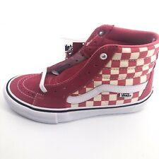 VANS Sk8-Hi Pro Checkerboard Desert Rose Men 6 Women 7.5