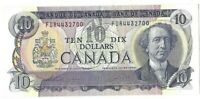 Bank of Canada FDR Prefix Thiessen Crow 1971 10 Ten Dollar Bank Note 15-222