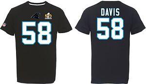 NFL T-Shirt Carolina Panthers Thomas Davis Superbowl Football Jersey