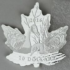 2016 $10 Maple Leaf Silhouette: Canada Geese, 1/2 oz. 99.99% Pure Silver Proof