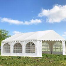 PVC Party Tent 20'x16' - Heavy Duty Party Wedding Tent Canopy Carport - White