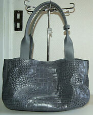 sac à main cabas ACCESSOIRES DE BONNE COMPAGNIE en cuir façon croco neuf