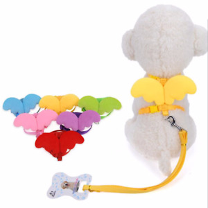 Pet Dog Harness & Leashes Collars Set Adjustable Cute Angel Wing Cat Puppy Leads
