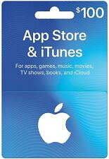 App Store iTunes Gift Cards $100.00 - Design May Vary - Mail Card Delivery