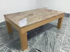 Marmortisch mit Tischgestell Buche massiv & Tischplatte Naturstein Marmor Stein