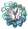 WorldaWhirl Whirligig 3D Angel Wind Spinner Hand Painted Stainless Steel Twister