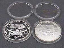 2 pièces de monnaie 5 Roubles 1978 Union Soviétique PC et PP ARGENT 900 #9