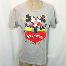 Disney Store T-Shirt Size Large Organic Cotton Mickey Mouse Minnie Sparkle