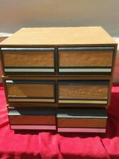 VHS movie storage box set of 3plastic/ black 2 drawer container slots stackable