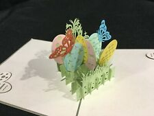 Easter Eggs 3D Pop Up Card Spring Love Birthday Anniversary Greeting Card