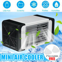 Portable USB Mini Desk Air Conditioner Cooler Summer Cooling Fan for Home
