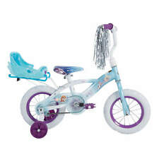 """12"""" Girls Bike Kids Bicycle Ride On Toy with Sleigh Doll Carrier Training Wheel"""